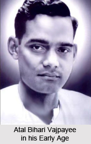 Atal Bihari Vajpayee in his Early Age
