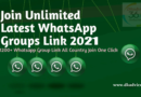2999+ WhatsApp group link India 2021 All Active Groups